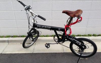 自転車にライトとスタンドをつけてみる