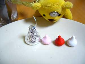 ふつうのキスチョコと大きさ比較