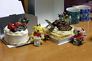 ケーキふたつとチョーダイズ