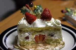 ショートケーキ断面図