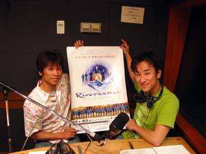 スタジオ風景・山田太一さんと福島カツシゲさん