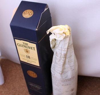 GLENLIVETの包み紙
