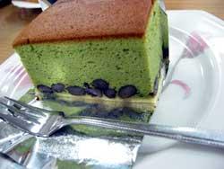 大納言抹茶ケーキ