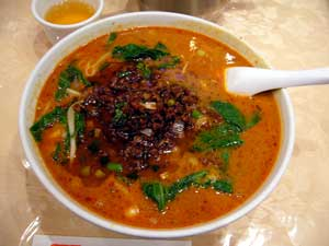 點(とむす)の担々麺