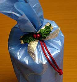 バウムクーヘンのクリスマスパッケージ
